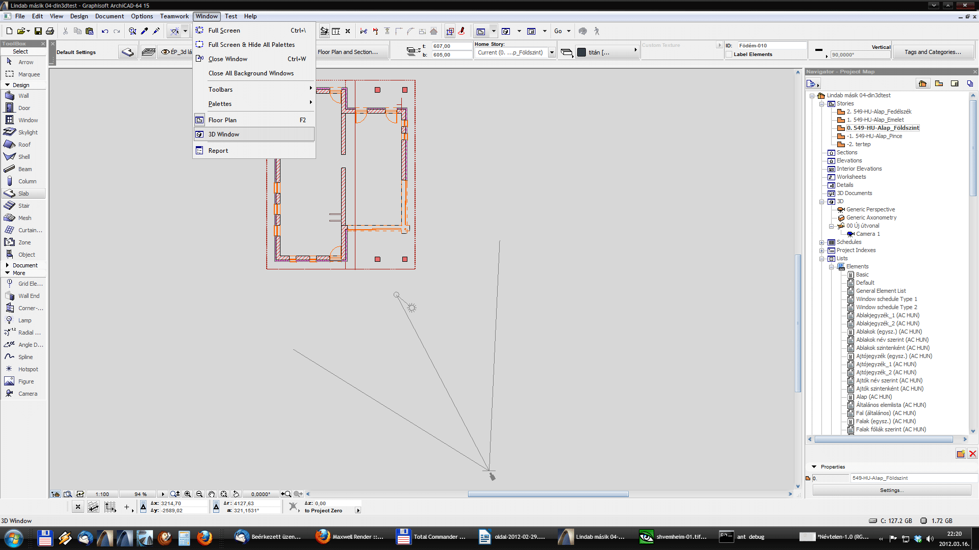 Din3D exporter for ArchiCAD - Usage 02