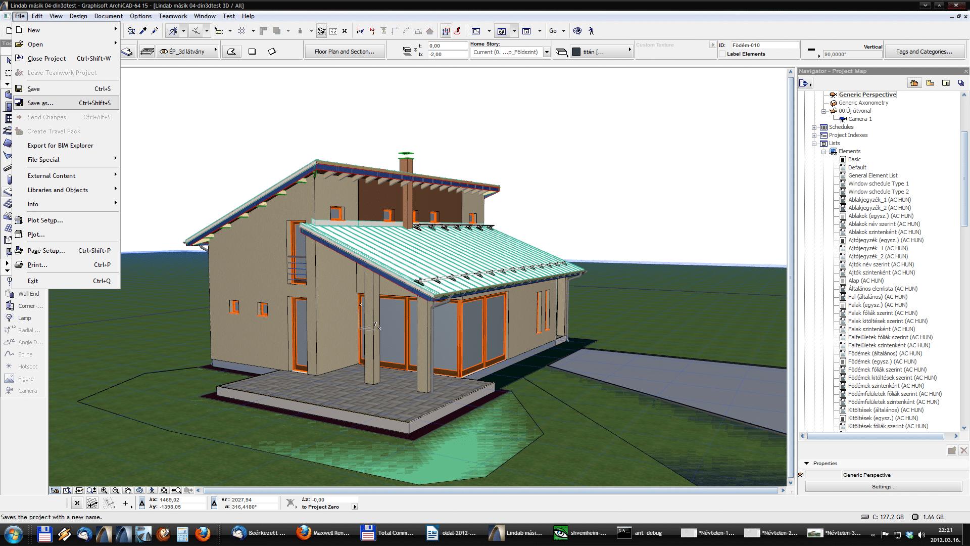 Din3D exporter for ArchiCAD - Usage 04