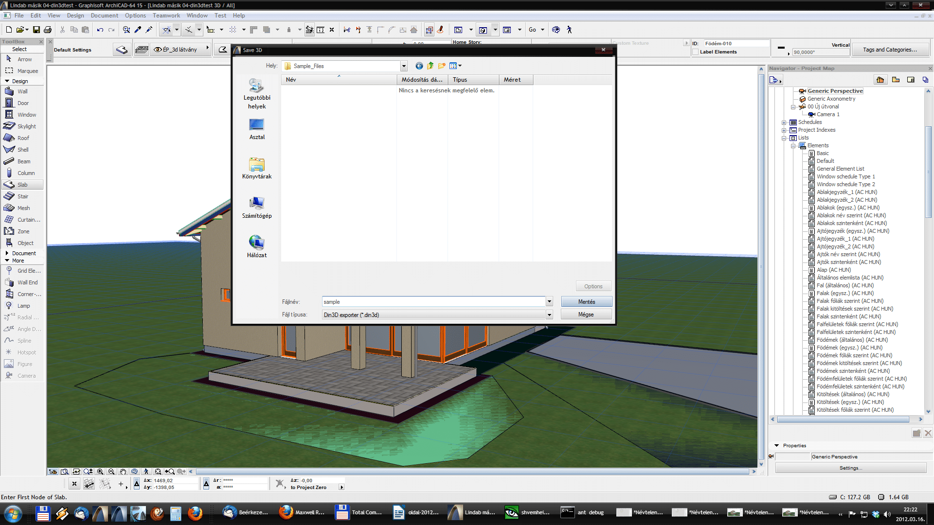Din3D exporter for ArchiCAD - Usage 05