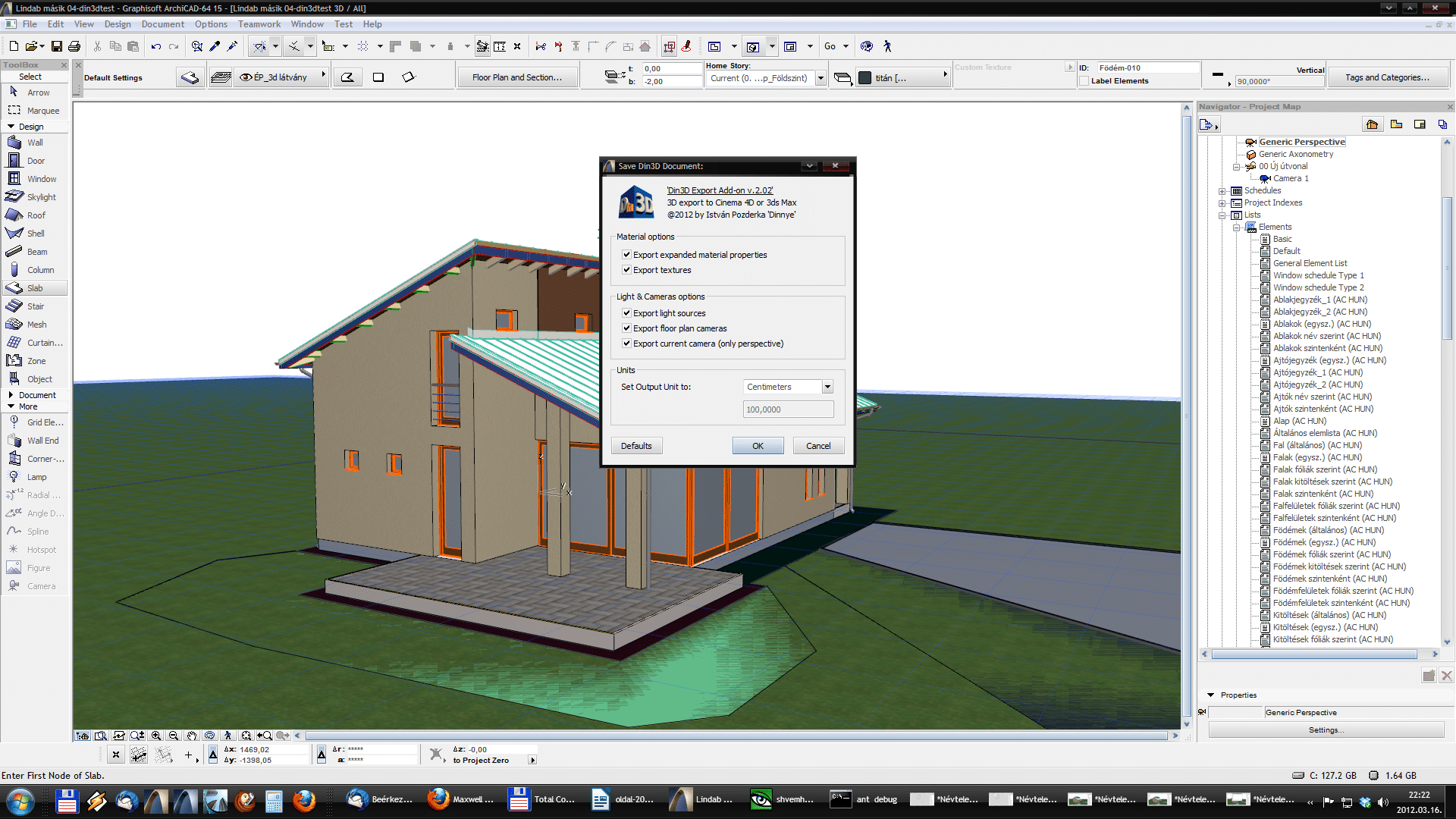 Din3D exporter for ArchiCAD - Usage 06